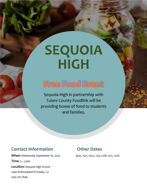 Food for Sequoia Families