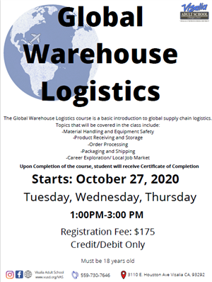 Global Warehouse Logistics flyer