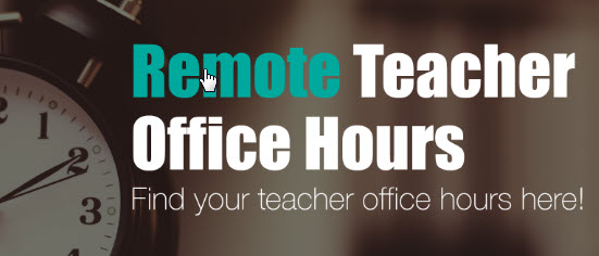 NEED HELP?  Check out the VTEC Wednesday Teacher Office Hours List