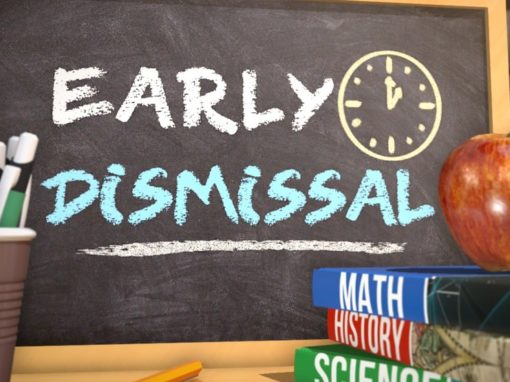 Early dismissal 11/7-11/16