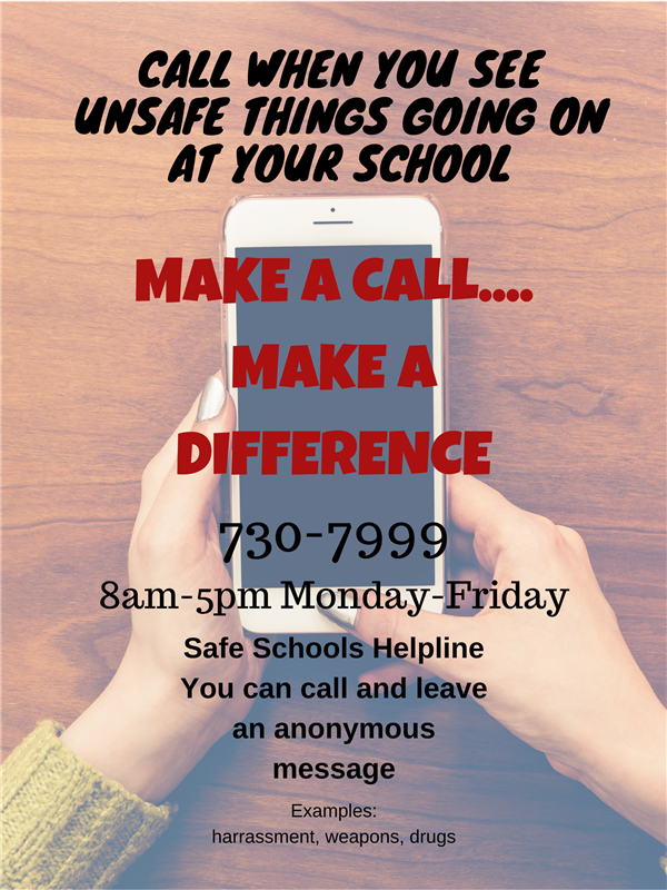 Confidential Hotline Number - 559-730-7999 Poster