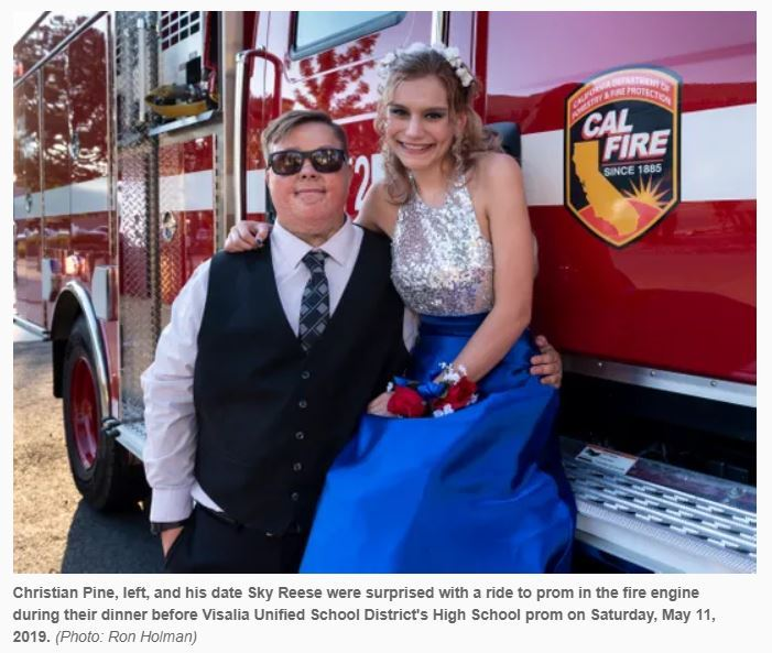 El Diamante student gets ride of a lifetime to prom thanks to Cal Fire