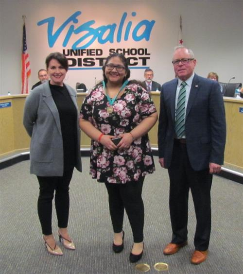Outgoing Board President and Clerk are Honored