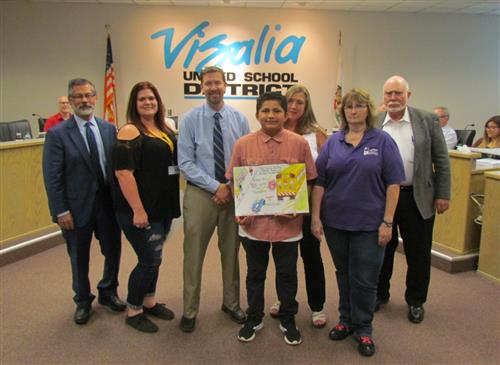 CASTO Chapter School Bus Safety poster Contest Winner