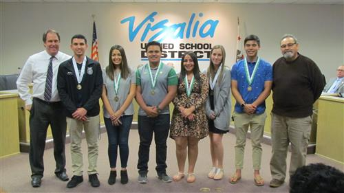 VUSD Board Recognizes Students for Outstanding Achievement