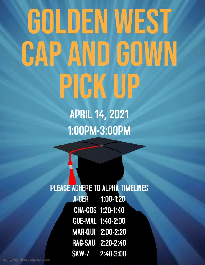 Cap and Gown Pick Up