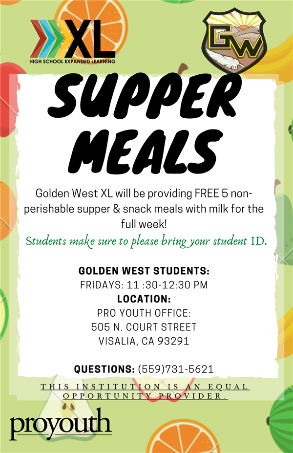 High School Expanded Learning SUPER MEALS